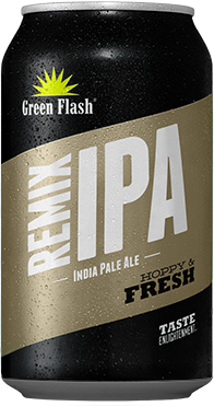 Remix IPA beer bottle