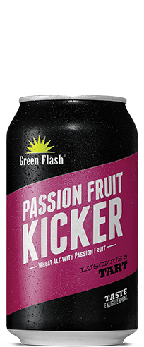 Passion Fruit Kicker Can beer bottle