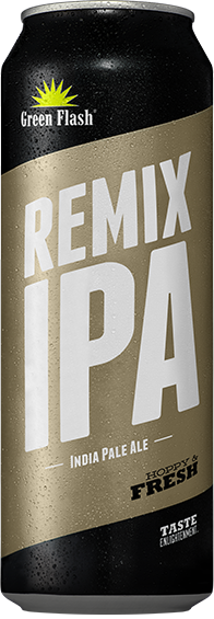 Remix IPA beer bottle